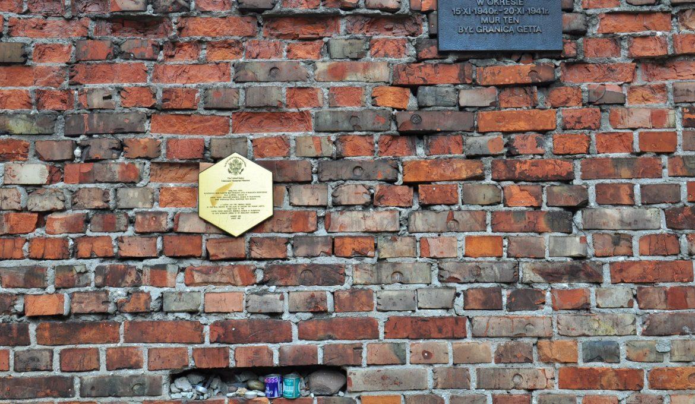Fragment of the ghetto wall at Sienna Street, photo. Tomasz Nowak, UM Warszawa