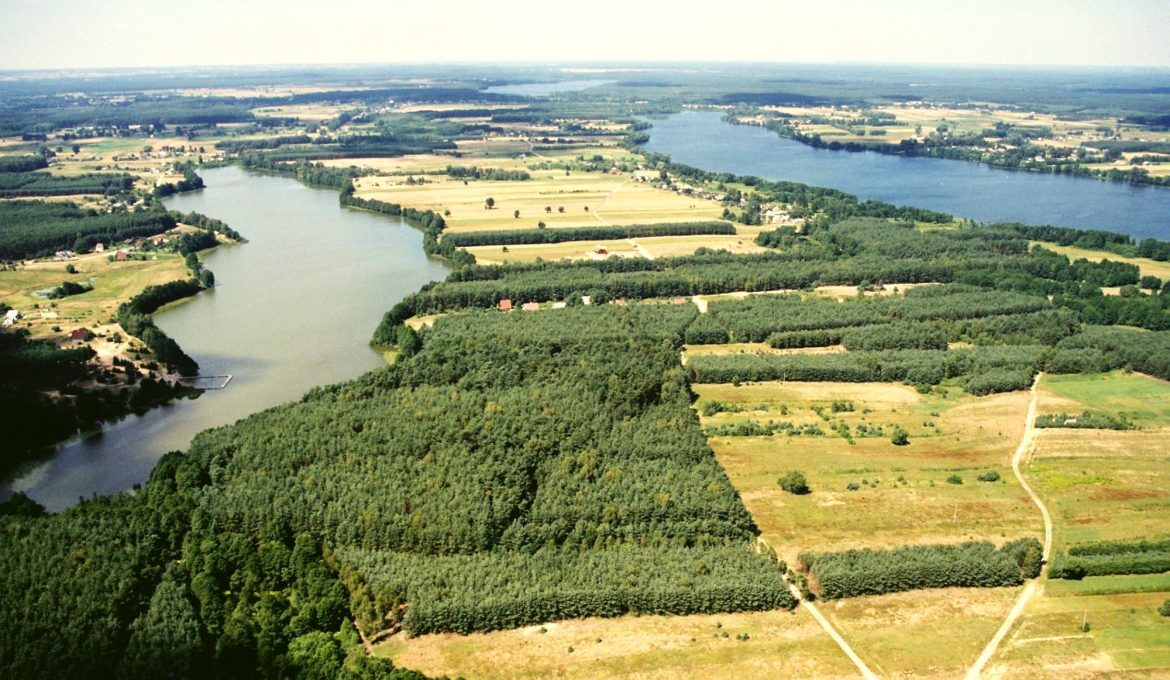 The Białe, Sumino and Lucieńskie Lakes from a bird's eye view, photo: SGTPG archive